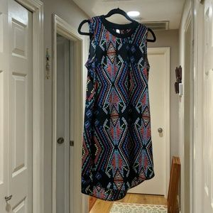 Retro-like patterned Dress